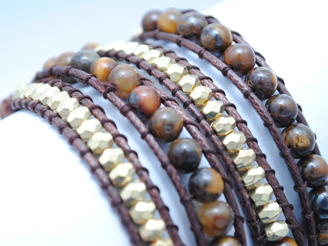 Ladies- wrap-bracelet-brown-tiger-eye-bead