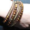 Ladies_bracelet_Gold_Brown_bead_LB5