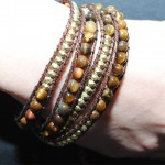 Ladies_bracelet_Gold_Brown_bead_LB5