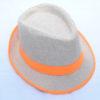 Mens_trilby_hats_orange