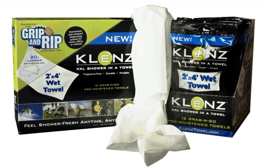 klenz -shower- in- a- towel